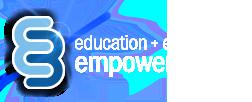 E3 education+expertise = empowerment logo